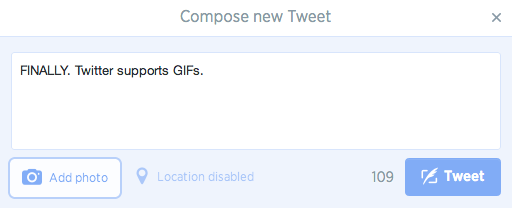 how to add a gif to twitter library