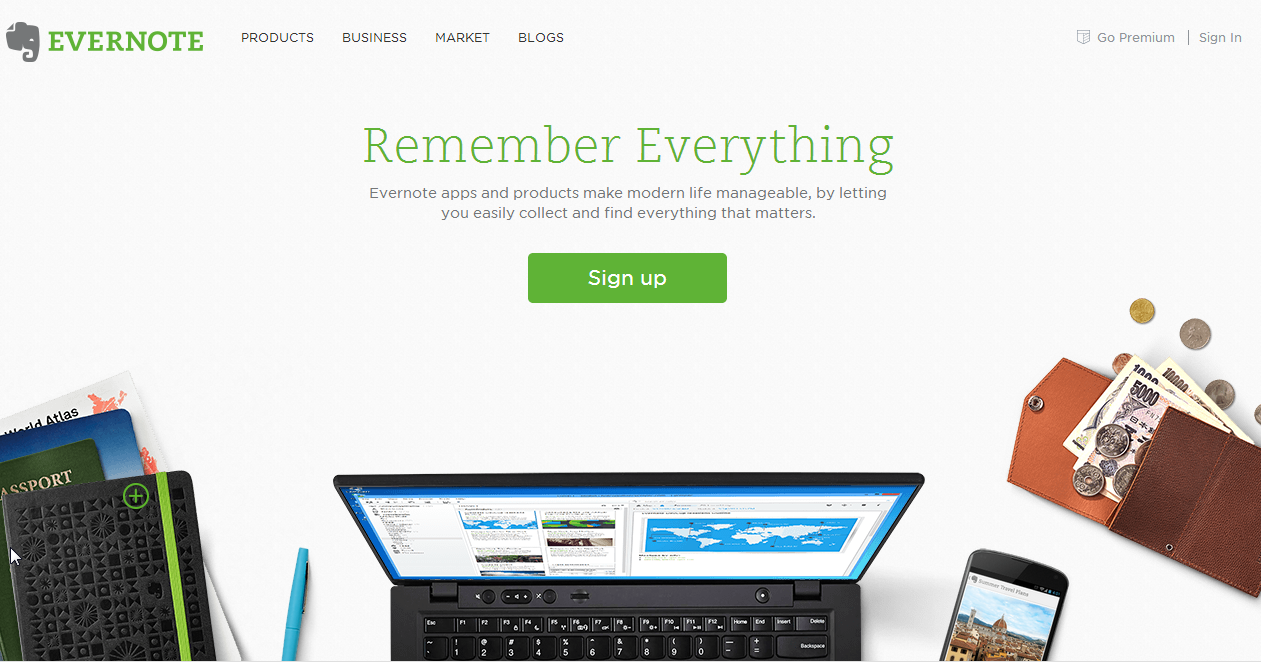 evernote-homepage-example