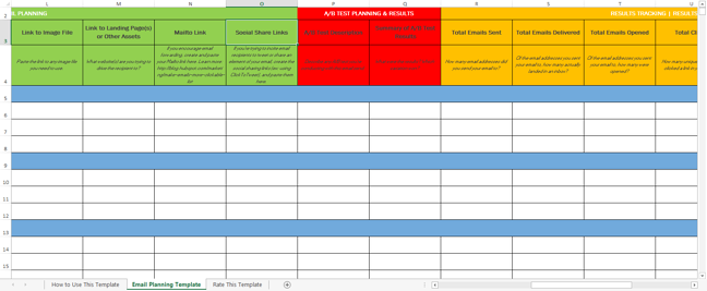 How to Easily Plan Track Your Email Marketing Campaigns Free – Marketing Schedule Template