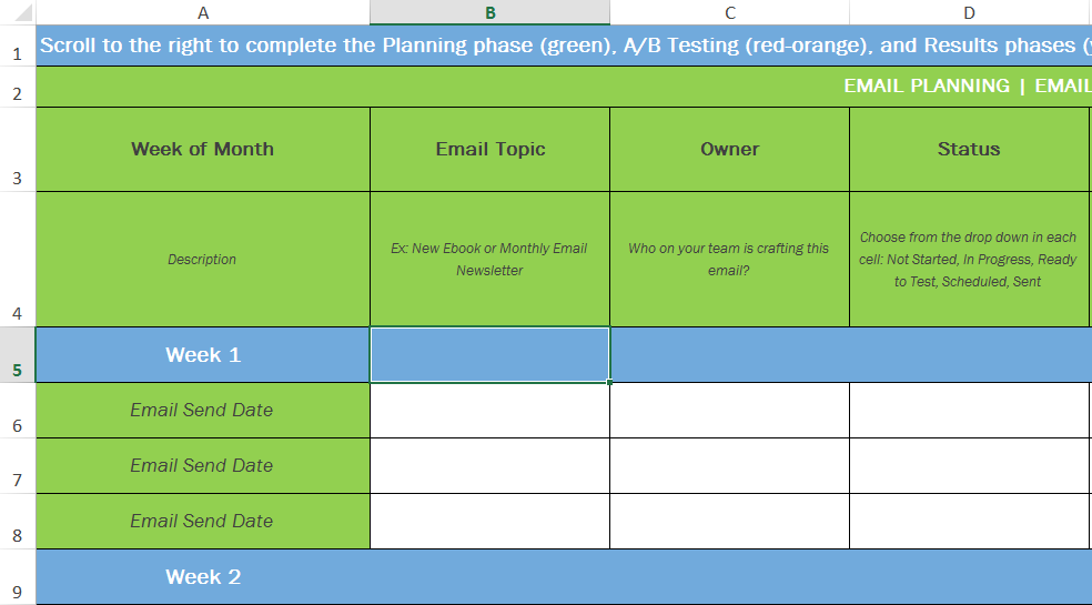 Email Marketing Campaign Plan Template The Truth About - Marketing campaign schedule template