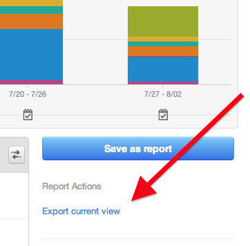 Button to export current view of your data from HubSpot