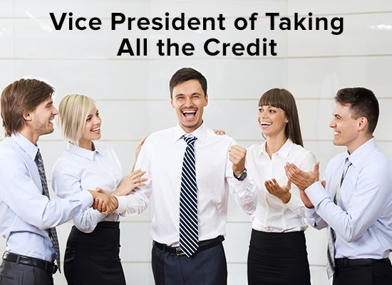 vice-president-of-taking-all-the-credit