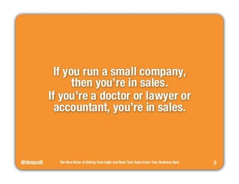 The New Rules of Selling [SlideShare]