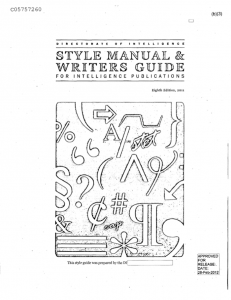 The CIA Released a Style Guide, and It's Way Weirder Than BuzzFeed's