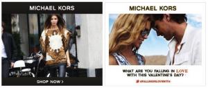 Michael Kors Banner Ad.