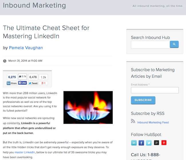 Example of HTML + CSS used to format a HubSpot blog post