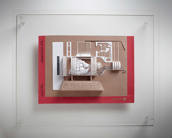 Agency Recreates the Advertising Brief by Transforming It Into 3D Paper Art