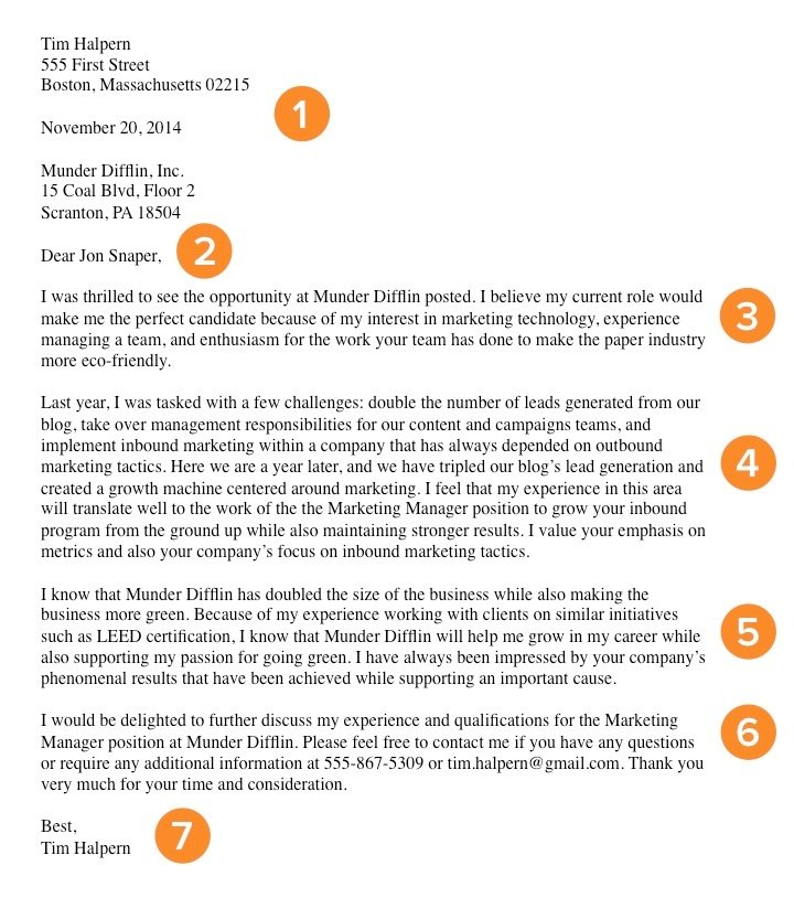 simple job application cover letter