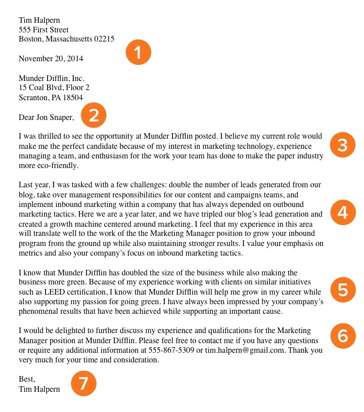 Cover Letter Example  Cover Letters That Worked