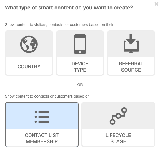 Smart Content - Personalize by Contact List