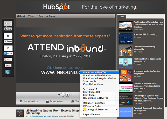 How to Create Clickable Links in SlideShare Presentations