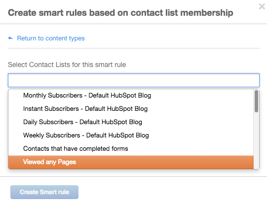 how to create a list from your contacts in hubspot