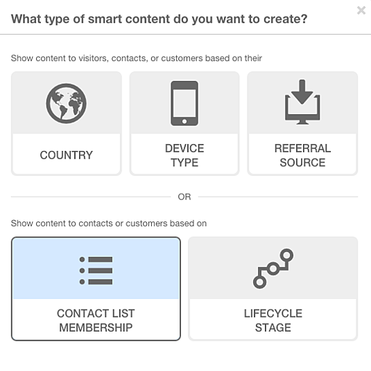 Smart-Content-Contact-List-Membership