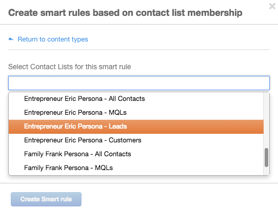 Contact List Personalization
