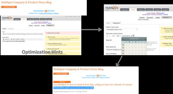 Postdating a Blog Using HubSpot