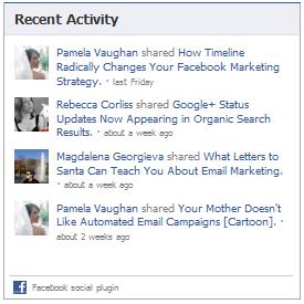 activity feed