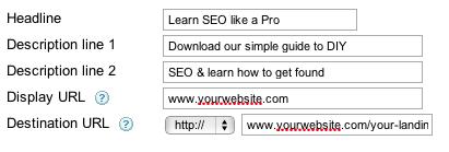 adwords tracking url