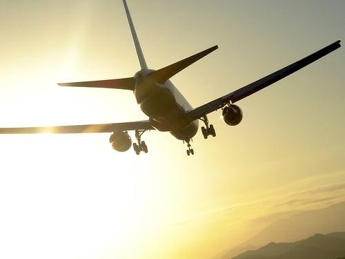 airplane leaving