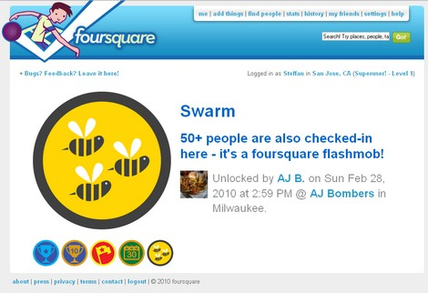 AJ Bombers Swarm Badge