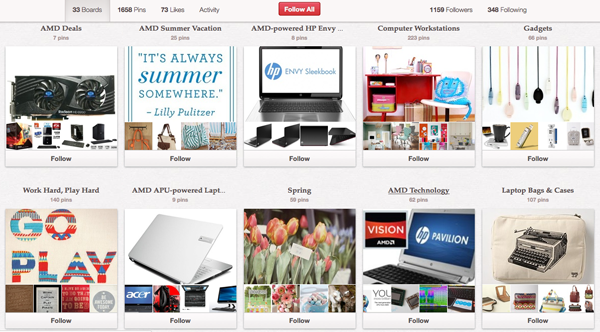 AMD's Pinterest