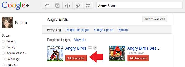 angry birds circles