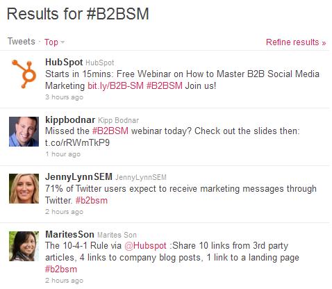 b2bsm hashtag
