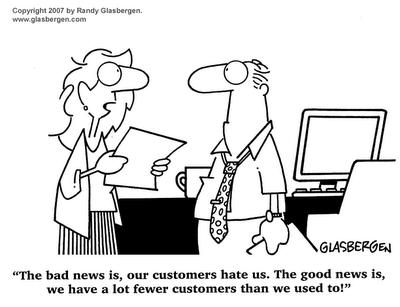 bad customer service cartoon