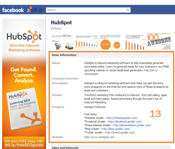 facebook basic info