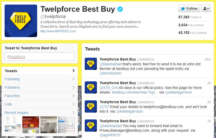 best buy twitter customer service
