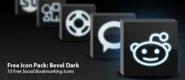 bevel dark icon set