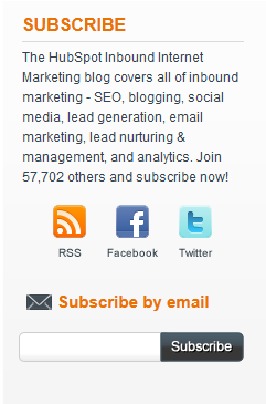 blog subscription call to action