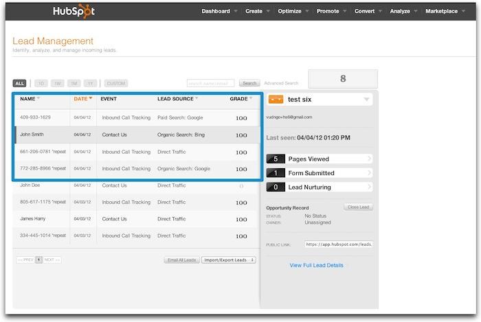 Call Tracking ScreenShot 1