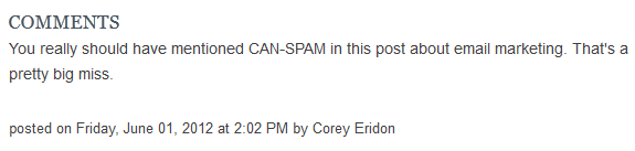 can spam comment