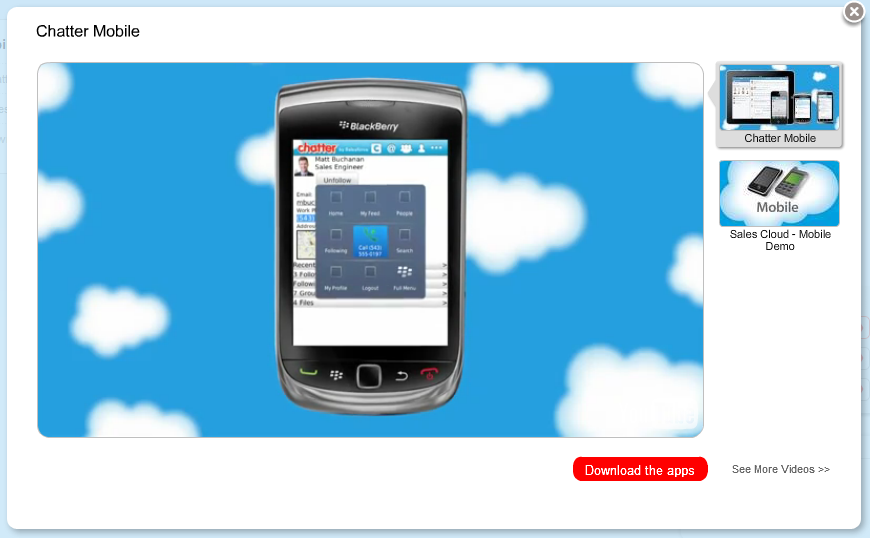 chatter mobile video demo example