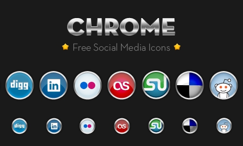 chrome icon set