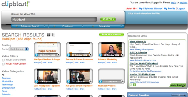 ClipBlast   World s Largest Video Search resized 600