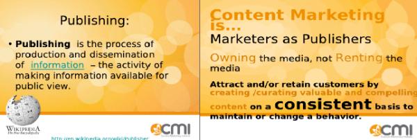 Marketing/publishing