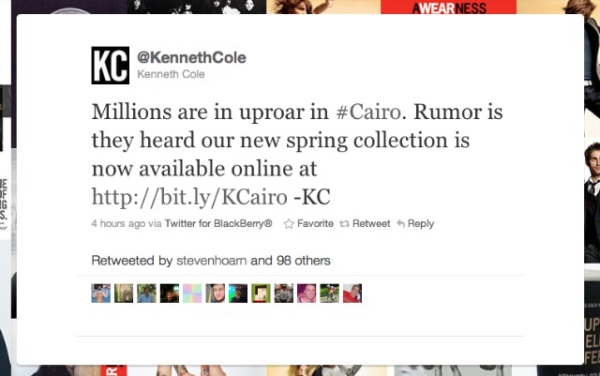 Learning From Kenneth Cole's Social Media Mistake