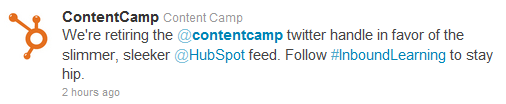 content camp example