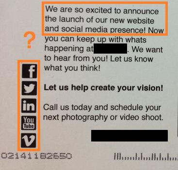 direct mail social media integration