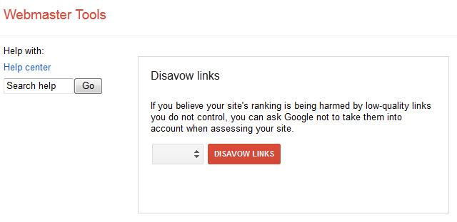 disavow links google