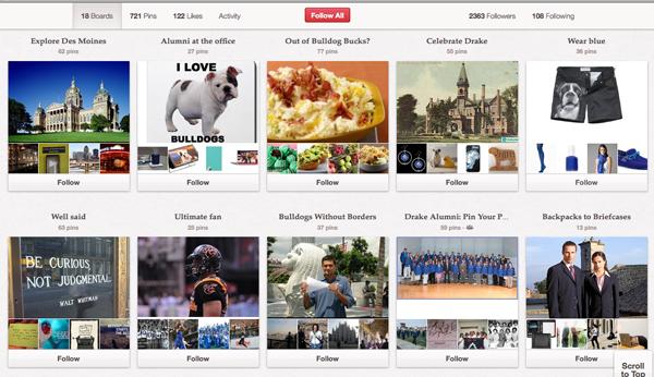 Drake University Pinterest