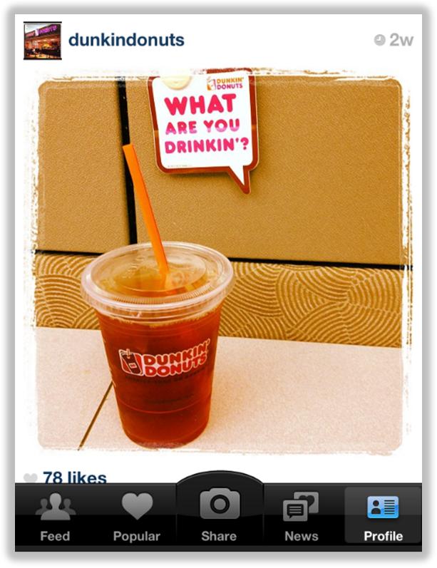 dunkin donuts instagram