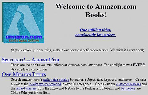early Amazon.com