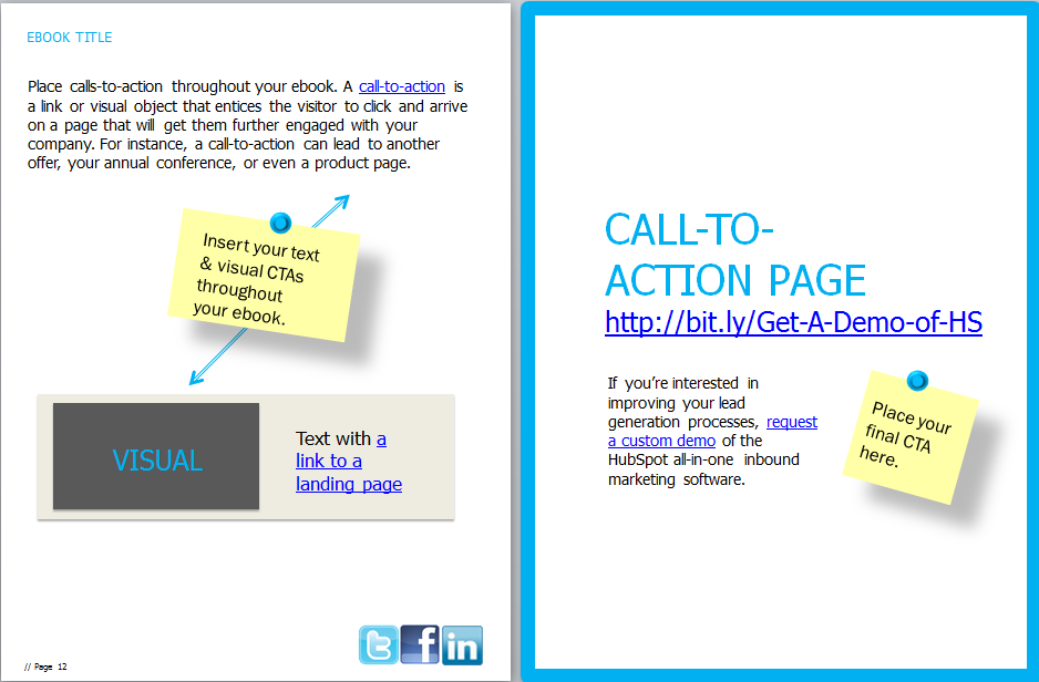 ebook call to action