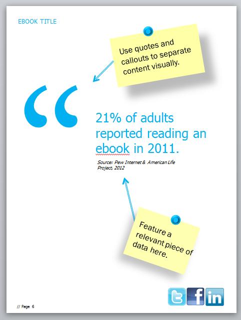 ebook designing tip