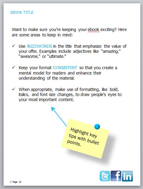 ebook formatting tips