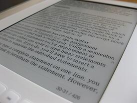ebook on ereader