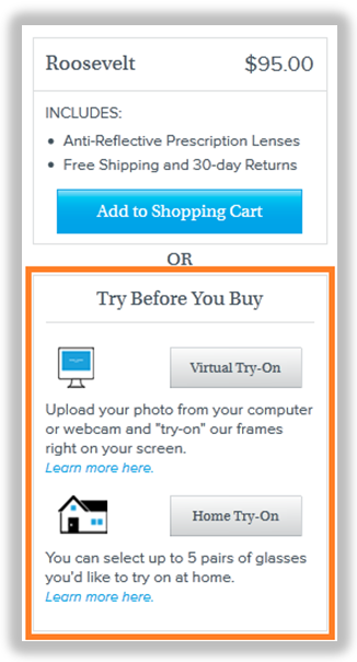 ecommerce secondary call to action