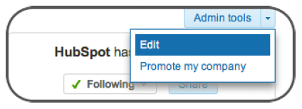 edit LinkedIn page info